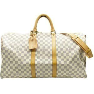 Louis Vuitton Keepall Azur Bandouliere 55 White